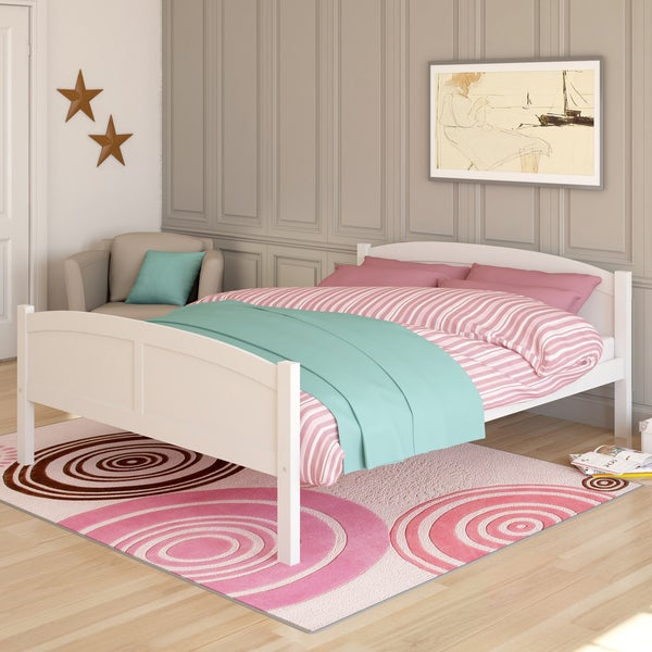 Corliving Concordia White Solid Wood Queen Bed