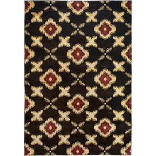Gibraltar Brown Transitional Floral Area Rug (7'10 x 10'10)