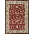 Gibraltar Red Traditional Floral Area Rug (7'10 x 10'10)