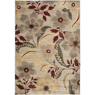 Gibraltar Ivory Transitional Floral Area Rug (7'10 x 10'10)