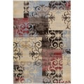 Gibraltar Multicolored Transitional Patchwork Area Rug (7'10 x 10'10)