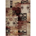 Large Gibraltar Multicolored Transitional Patchwork Area Rug (7'10 x 10'10)