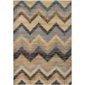 Gibraltar Grey Chevron Striped Area Rug (7'10 x 10'10)