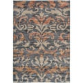 Gibraltar Grey Transitional Fleur de Lis Area Rug (7'10 x 10'10)
