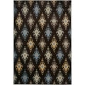 Gibraltar Brown Transitional Patterned Area Rug (7'10 x 10'10)