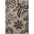 Gibraltar Ivory/ Multi Transitional Floral Area Rug (7'10 x 10'10)