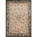 Gibraltar Ivory Traditional Floral Bordered Area Rug (7'10 x 10'10)