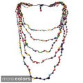 Mix Color Howlite Floating Bubbles Multi Layered Necklace (Thailand)