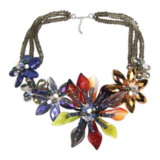 Magic Floral Goddess Mix Stone Statement Necklace (Thailand)