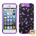 BasAcc Black/ Electric Purple/ Flowerpower Case for Apple iPhone 5