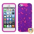 BasAcc Grape/ Hot Pink/ Flowerpower Hybrid Case for Apple iPhone 5