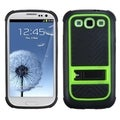 BasAcc Green Gummy Armor Stand for Samsung Galaxy S III