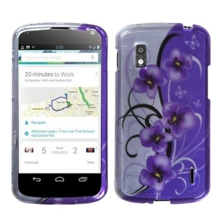 BasAcc Twilight Petunias/ 2D Silver Phone Case for LG E960 Nexus