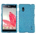 BasAcc Blue/ White Dots Diamante Phone Case for LG E970 Optimus G