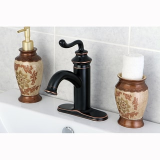Single-Handle Oil Rubbed Bronze Single-Hole Bathroom Faucet