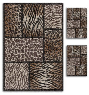Primavera Animal Print Rug Set