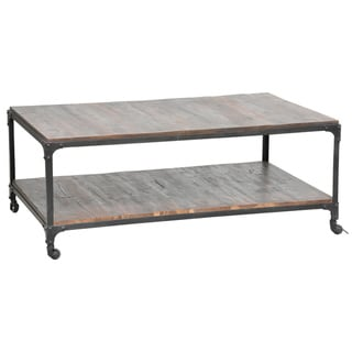 Larry Reclaimed Wood and Iron Coffee Table