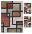 Aqueous Primavera White/ Multi Area Rugs (Set of 3)