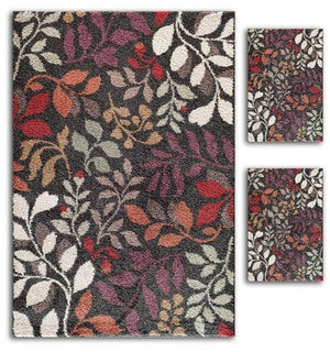 Aqueous Primavera Black/ Multi Area Rugs (Set of 3)