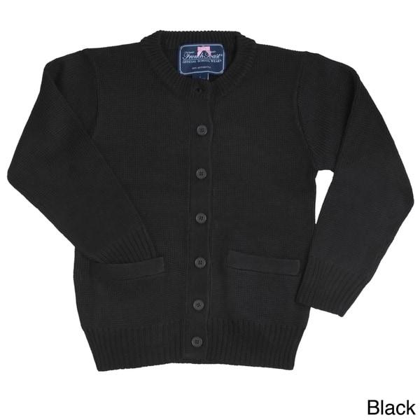 French Toast Girls Crew Neck Cardigan Sweater