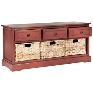 Safavieh Damien Red 3-Drawer Storage Unit