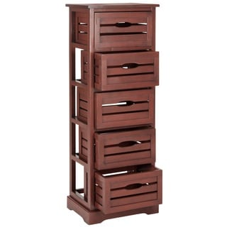 Safavieh Sarina Red Storage 5-Drawer Cabinet