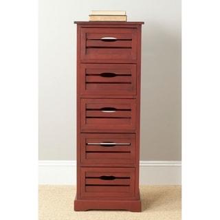 Safavieh Sarina Red Storage 5-Drawer Cabinet