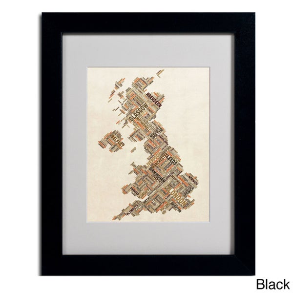 Michael Tompsett 'United Kingdom II' Framed Matted Art