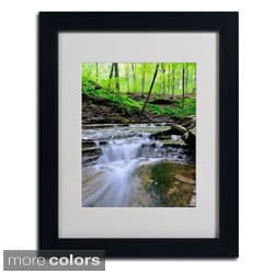 Kurt Shaffer 'Valley Stream' Framed Matted Art