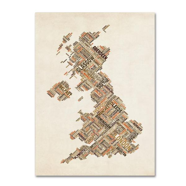 Michael Tompsett 'United Kingdom II' Canvas Art