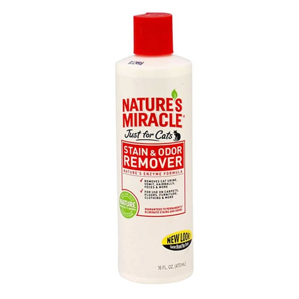 Natures Miracle Stain And Odor Remover Just For Cats (16 oz)