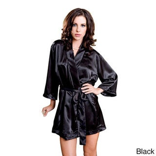 ICollection Lingerie Women's Satin Robe and Sash