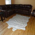 Animal hide White Acrylic Fur Rug (5'x7')