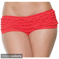 Seven Til Midnight Women's Mesh Ruffled Boyshorts