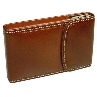 Castello Tan Leather Hardcase Cardholder