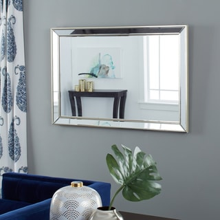 Ariel Modern Rectangle Wall Mirror - Gold By Abbyson