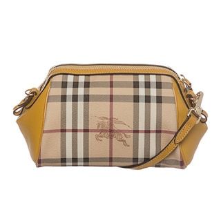 Burberry 'Blaze' Mustard Haymarket Mini Crossbody Bag