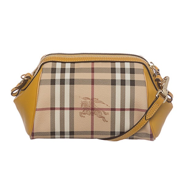 Burberry 'Blaze' Mustard Haymarket Mini Crossbody Bag