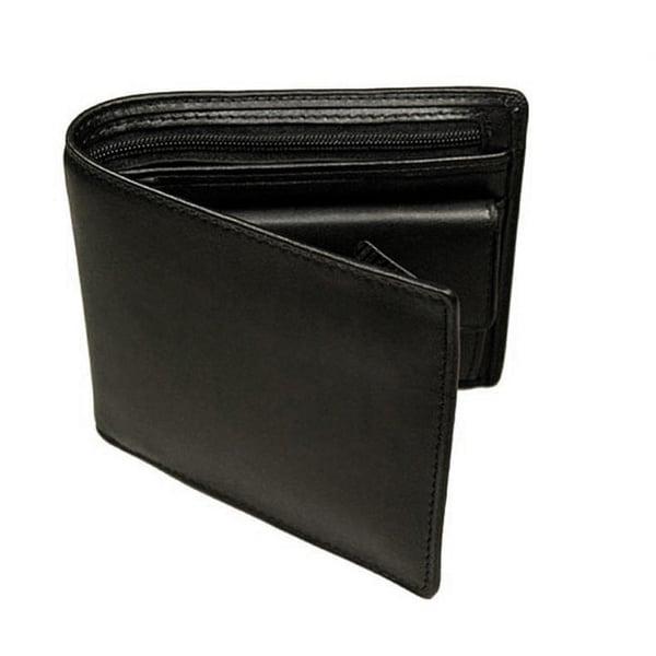 Castello Black Nappa Leather Coin Wallet
