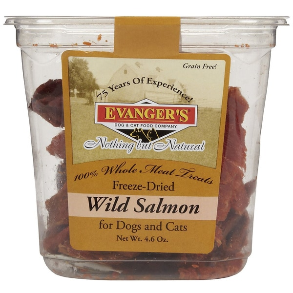 Evangeres 100-percent Whole Meat Treat Wild Salmon (2pack)