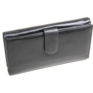 Castello Black Nappa Leather Double-sided Wallet
