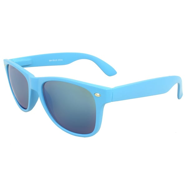 Fashion Sunglasses Blue Frame Blue Revo Lenses