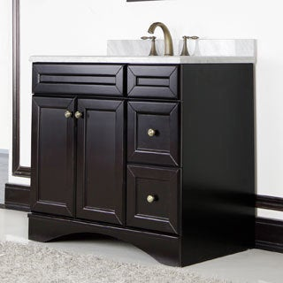 Ivory Carrera Italian marble 36-inch Vanity Cabinet by Sirio