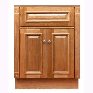 "24""x18"" Heritage Oak Vanity Cabinet"