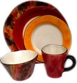 Tortoise Shell Ceramic Place Setting Bundle (Italy)