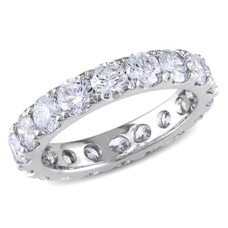 Miadora Signature Collection 14k Gold 3 1/3ct TDW Certified Diamond Eternity Ring (G-H, VS2-SI1)