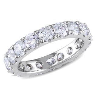 Miadora 14k Gold 3 1/3ct TDW Certified Diamond Eternity Ring (G-H, VS2-SI1)