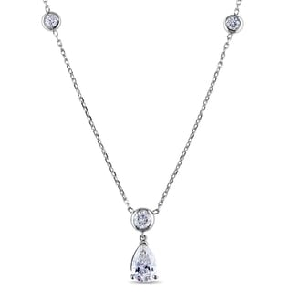 Miadora 14k Gold 1 7/8ct TDW Certified Diamond Station Necklace (G-H, SI2-I1) (IGI)