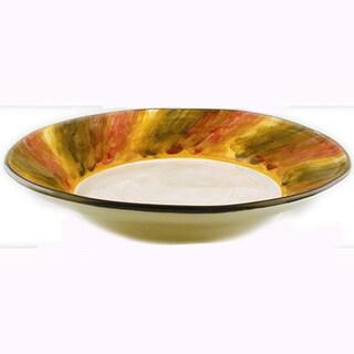 Tortoise Shell Ceramic Serving Bowl (Italy)