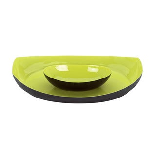 Dansk Classic Fjord Apple Green Metal Chip Dip Plate